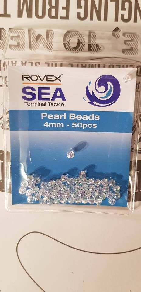 Rovex Pearl 4mm rig beads... 50 per pack...
